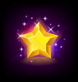 shining yellow star with sparkles slot icon vector image vector image