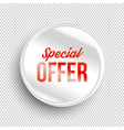 special offer circle banner vector image vector image
