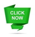 speech bubble click now design element sign symbol vector image