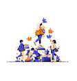 teamwork and collaboration in business and work vector image vector image