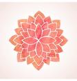 Watercolor red flower pattern Mandala vector image vector image