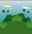 wildlife background design vector image