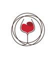 wine lines vector image vector image