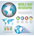 world map infographic chart population vector image vector image