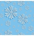 Abstract 3d Seamless Pattern with Snowflakes vector image