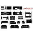 Assorted home furniture set vector image
