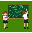 Back to school background little girl and boy vector image