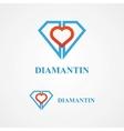Design diamond logo element vector image