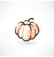 pumpkin grunge icon vector image