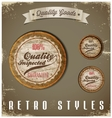 Vintage Labels template set Retro logo design vector image