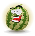 watermelon character vector image