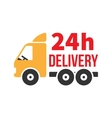 24 Hour Delivery Icon Next Day Shipping Flat vector image