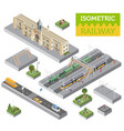 3d isometric train station and city map