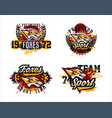 a set for printing on a t-shirt an evil fox ready vector image vector image