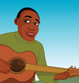 African guitar player vector image vector image