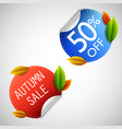 autumn sale stickers vector image