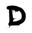 blot letter d black and white vector image