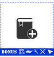 book add icon flat vector image vector image