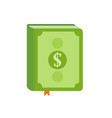 book with symbol of money on the cover best vector image vector image