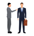 businessmen with briefcase vector image vector image