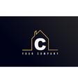 c house alphabet letter icon logo design house vector image vector image