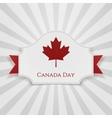 Canada Day Holiday Badge with Ribbon vector image vector image