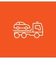 Car towing truck line icon vector image vector image