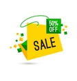Colorful advertising sale banner 50 percent off vector image vector image