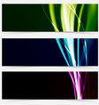 Colorful header collection speed futuristic line vector image vector image