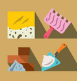 construction tools and materials flat vector image
