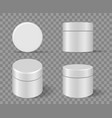 cosmetic rounded package set vector image