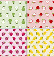 cute hand draw colorful fruit pear apple vector image