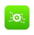 cyber eye symbol icon digital green vector image