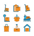 delivery cargo shipping distribution logistic vector image