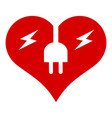 electric heart icon simple style vector image vector image