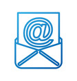 envelope with paper sheet concept of email vector image