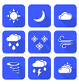 flat style solid white color weather forecast vector image