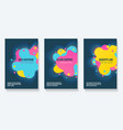 futuristic shapes booklet design vector image