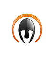 gladiator helmet logo or icon greek spartan vector image