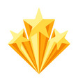gold prize icon with stars vector image