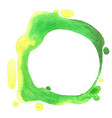 green color wreath watercolor for decoration vector image