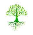 green hand tree for nature help group vector image vector image