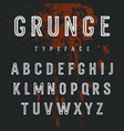 grunge alphabet 007 vector image vector image