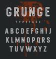 grunge alphabet 007 vector image