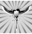 Grunge wings and shield vector | Price: 1 Credit (USD $1)