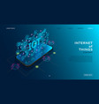 internet of things technology concept vector image vector image