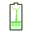 isolated battery icon vector image vector image
