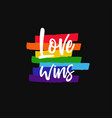 lgbt concept with rainbow 7 vector image vector image