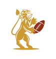 lion rugsport logo design symbol isolated vector image