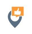 location pin with thumb up colored icon favorite vector image